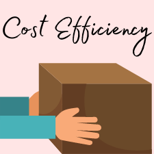 cost efficiency with a corrugated box and hands