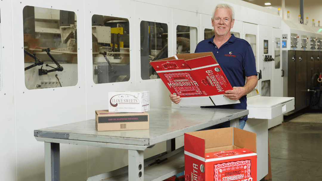 branded boxes at Wertheimer Box manufacturing plant